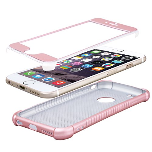 HB-Int Coque de iPhone 7, Housse Silicone Souple Flexible 360 Degré Protection Etui TPU Ultra Slim Antichoc Case Cover Shockproof Shell pour Apple iPhone 7 - Rose Or Rose Or