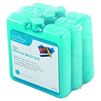 The Home Fusion Company Pack Of 3 Mini Ice Blocks Freeze For Cooler Bags & Picnics Great For Travel & Reusable