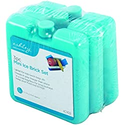 the Home FUSION Company Paquet de 3 Mini Glace Blocs GLACIAL pour glacière SACS & pique-niques idéal pour VOYAGES & réutilisable