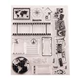 Healifty Silikonstempel Tiere Clear Stamps Transparente Briefmarken für Kartenherstellung Album Scrapbooking DIY Foto Karte Buch Wanddeko Fensterdeko