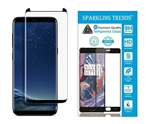 Sparkling Trends™ Premium Case Friendly 3D Tempered Glass Screen Protector for Samsung Galaxy S8 PLUS 6.2 Inch Black