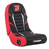BraZen Python 2.0 Bluetooth Surround Sound Gaming Chair, Red