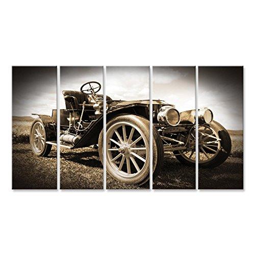Cuadro Cuadros Impresión sobre lienzo - Formato Grande - Cuadros modernos coches de época clásica sepia