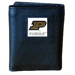 Purdue Boilermakers Genuine Leather Tri-fold Wallet