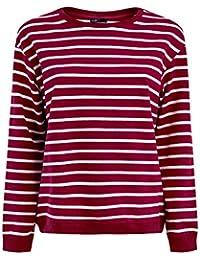 oodji Ultra Femme Sweat-shirt Ample à Rayures