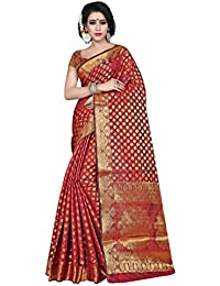 Silk Zone Women's Banarasi Silk Maroon Silk Saree With Blouse Piece(NSILKZ00096_Maroon_Free Size)