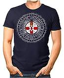Legendary Items™ - Northern Ireland - Herren T-Shirt Nordirland Wappen Fußball Trikot EM WM Championship Vintage Navy 3XL