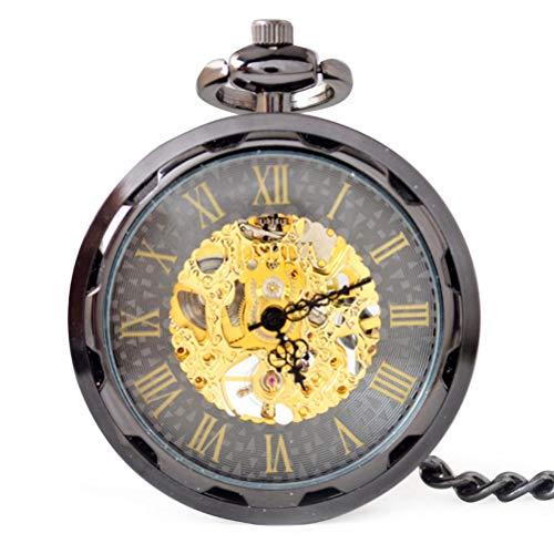 Der Ohne Namen Mann Kostüm - GaLon Quarz-Taschenuhr, mechanische Retro-Uhr ohne Deckel mechanische Hängeliste mechanische Unisex-Taschenuhr mit Geschenkbox