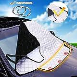 Die besten Windschutzscheibe Sonnenschutz - Sonnenschutz Auto Frontscheibenabdeckung Abdeckung Autoscheibenabdeckung windschutzscheibe magnet Faltbare Bewertungen