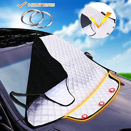 Auto Frontscheibenabdeckung Abdeckung Autoscheibenabdeckung Windschutzscheibe magnet Faltbare Abnehmbare Schutz vor UV-Strahlung Hitzeschutz Staub Dreck Fros193 * 157 * 126C M