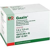 GAZIN Schlitzkompressen 7,5x7,5cm 8fach steril, 50X2 St preisvergleich bei billige-tabletten.eu