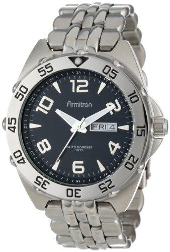 armitron-mens-204665bksv-silver-tone-stainless-steel-black-dial-dress-bracelet-watch
