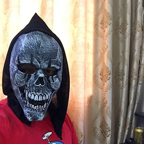 Kostüm Stadt Zombie Party - Halloween Horror Maske, Ghost Festival Grimasse Bloody Zombie Prom Party Anzieh Requisiten (A)-EIN