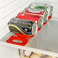 Prochive Silicone Beer Cola Wine Bottle Mats, Water Bottles & Food Cans Rack Holder Stack, Perfect Kitchen Cabinet And Fridge Stack Storage, Bottles Cans Fridge Organizer, 1 Pcs, Red