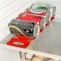 Prochive silicone birra cola tappeti per bottiglia di vino, porta lattine per alimenti e bottiglie d' acqua Stack, perfetto armadio da cucina e frigorifero impilabile, bottiglie lattine frigorifero organizzatore, 1pezzi, rosso