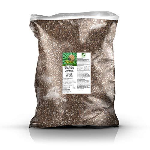 GREEN24 Palmfarn Substrat - Palmfarnerde - Cycaserde - Premium Erde für Cycas revoluta - 10 Ltr. - Sagopalmfarn Profi Linie Substrate & Erden