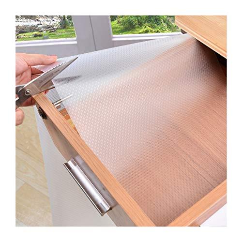 Eva Wasserdicht Waschbar nicht klebend Regal Schublade Liner Rolle für Kühlschrank Küche Badezimmer Unterschrank Schublade Schrank (transparent) -