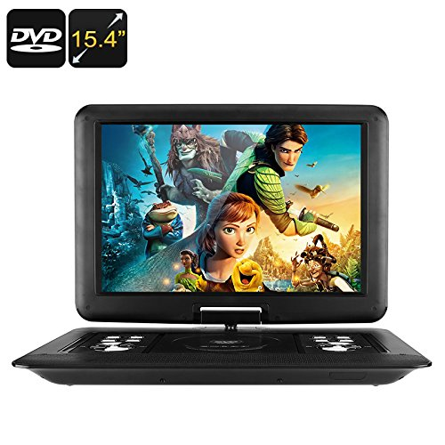 Chinavasion 15.4-Inch Portable EVD / DVD Player - Universal Disc Support, Game Play, FM Radio, E-Book, Analog TV, Screen Rotation