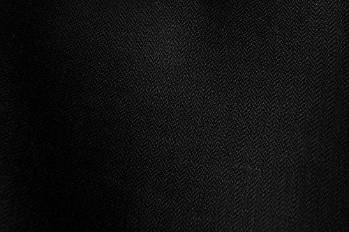100% Leinen Stoff Meterware–schwarz–Breite 150cm (149,9cm)–Herringbone 150gsm Textil (Fischgrät-hemd-kleid)