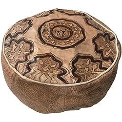 Puf Puff Pouff puf Marruecos marroquí auténtica Piel Leather étnico reposapiés Tradicional árabe Egipcio tunecino Turco Africano