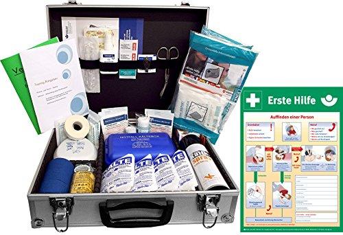 Medizinischer Betreuerkoffer -Paket 2- zur Versorgung von typischen Sport-Verletzungen INKL. AUSHANG (A3)