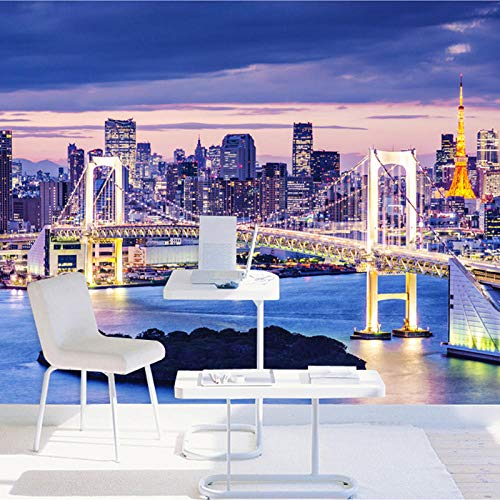 Personalizzato Camera Murali Da Tokyo Tv Soggiorno Pittura Carta Parati Notturna Murale Parete Scena Letto Divano Città Sfondo N0wPkO8nX