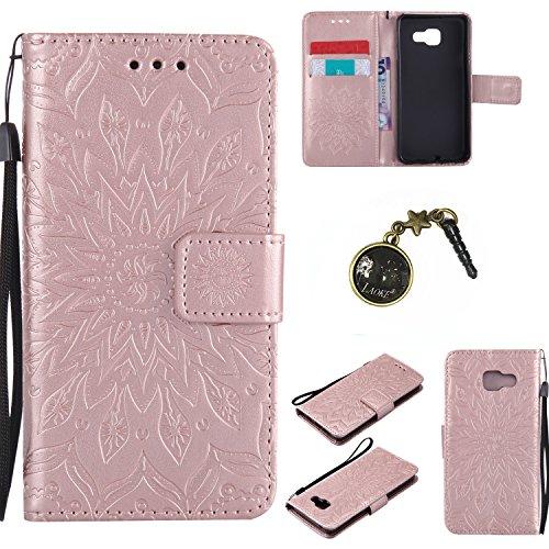 Preisvergleich Produktbild Laoke PU Silikon Schutzhülle Handyhülle Painted pc case cover hülle Handy-Fall-Haut Shell Abdeckungen für Smartphone Samsung Galaxy A3 (2016) A310F+Staubstecker (2FF)