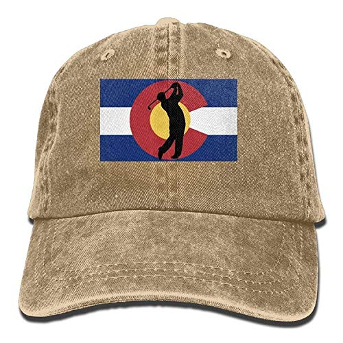 ewtretr Baseball Caps Hats Funny Bag Golf Colorado State Flags Trend Printing Cowboy Hat Baseball Cap Black Adjustable Unisex Suitable for All Seasons