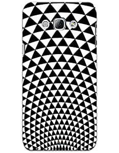 Samsung Galaxy S3 Cases & Covers - Black And White Triangles Case by myPhoneMate - Designer Printed Hard Matte Case - Protects from Scratch and Bumps & Drops.