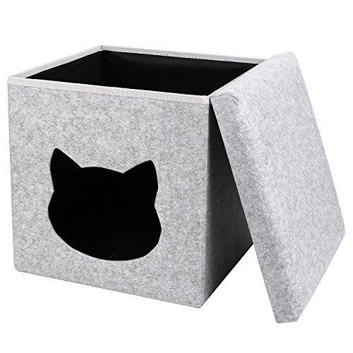 PEDY Katzenhöhle fürs Regal Kuschelhöhle Katzenbett plüsch für katze indoor höhlenbett