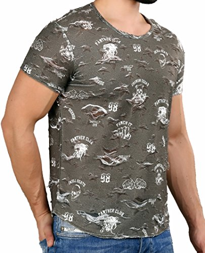 Redbridge Herren Destroyed T-Shirt M1202 Khaki