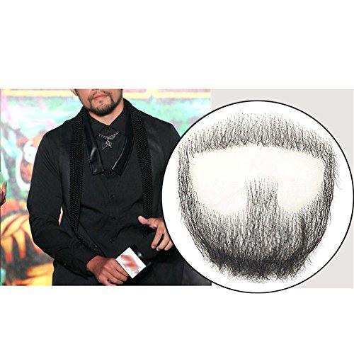 (remeehi Goatee Herren Bart Echthaar Spitze Handarbeit Fake Facial Schnurrbart Kostüm Pretend)