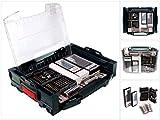 Bosch I-Boxx Active Rack Professional, 68-Tlg. Zubehör-Set Bit-Set Betonbohrer Universal Bohrer für L-Boxx