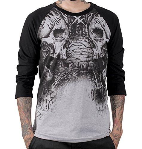 Hyraw -  T-shirt - Uomo Grey Small