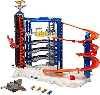 Hot Wheels FDF25 - Super Megacity Parkgarage, Garage und Parkhaus mit Gorilla und Flugzeug für +140 Spielzeugautos inkl. 4 Autos, ca. 107 cm hoch, Spielzeug ab 5 Jahren (B01NAHODCX) | Amazon Products