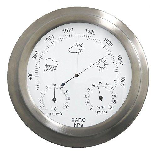 Oypla Innen-/Außen-Barometer Wetterstation Edelstahl