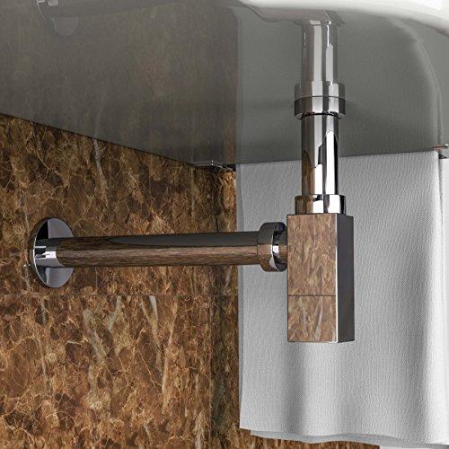 Vilstein sifone per lavabo bagno con altezza regolabile - Tubi scarico bagno ...
