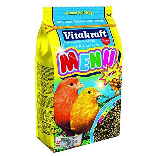 VITAKRAFT Premium menu canarini 3kg – Alimenti uccelli