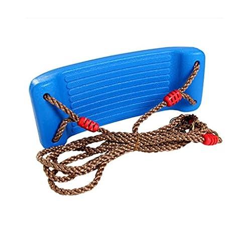 4CM Epais Siège Balançoire Extérieure Avec Réglable Ropes Playground Jouet Jardin Enfant Cadeau - Bleu