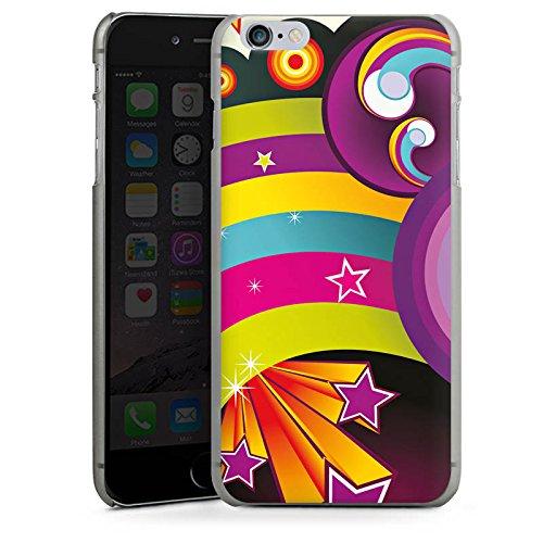 Apple iPhone 4 Housse Étui Silicone Coque Protection Arc-en-ciel couleurs Étoiles CasDur anthracite clair