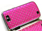 Exklusiv-Cad Samsung Galaxy W GT-i8150 chrom STraSS BlinG COVER hard CASE HÜLLE tasche pink