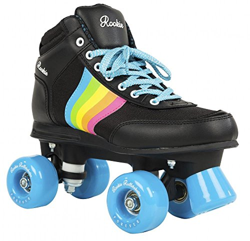 Rookie Forever Rainbow V2 Patines, Mujer, Black/Multi, 39,5