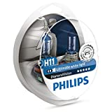 Philips Diamond Vision H11 Upgrade Car Headlight Bulbs 5000K (Twin)