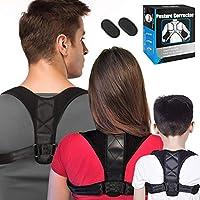 ATNKE Corrector de Postura Soporte espinal para Hombres, Mujeres y niños - Soporte de clavícula para la Parte Superior de la Espalda para Proporcionar Alivio del Dolor Desde el cuello/M/36-43in