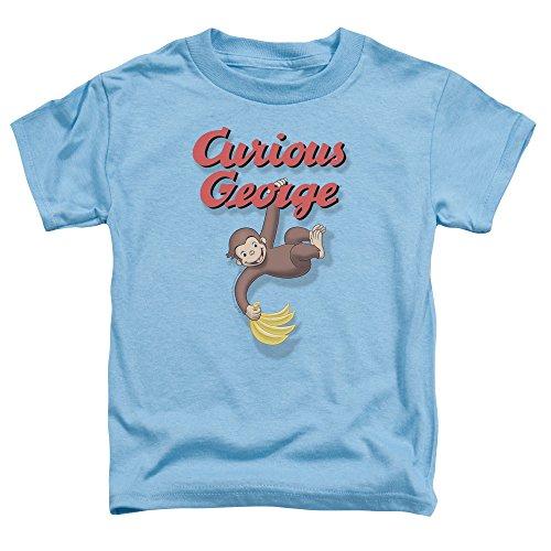 Curious George Kleinkinder Hangin heraus T-Shirt, 2T, Carolina Blue - Curious George Kleinkind T-shirt