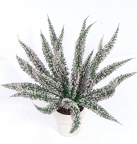 artplants Set 12 x Künstliche Erika GISSI auf Steckstab, rosa, 35 cm, Ø 3 cm – 12 Stück Künstliche Heidekraut/Kunstblume