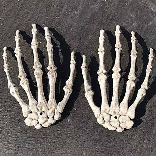Aprigy - Top 2 Stück 1 Paar Plastik Skeleton Hände Geisterhaus für Halloween Dekoration Halloween Props (Top Schablone Halloween Kostüme)