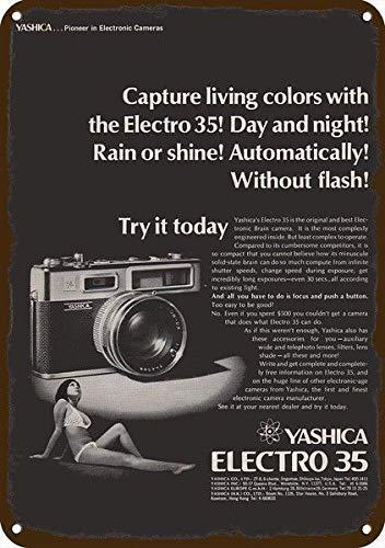1969 Yashica Electro 35 Camera Vintage Look Replica Metal Sign 7