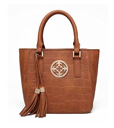 Pu Cool Damen Handtaschen, Hobo-Bags, Schultertaschen, Beutel, Beuteltaschen, Trend-Bags, Velours, Veloursleder, Wildleder, Tasche Mehrfarbig 1 Keshi