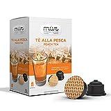 MUST ESPRESSO ITALIANO Eistee Pfirsich Tee 96 Dolce Gusto Kompatible Kapseln, 6er Pack (6 x 192 g)
